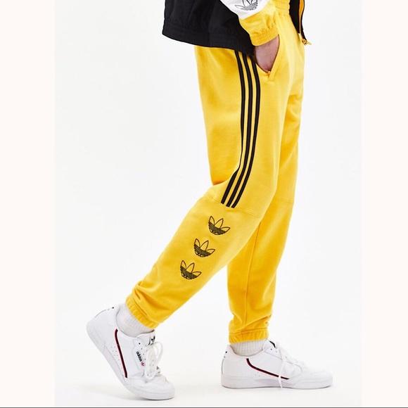 adidas sweat yellow